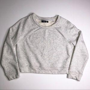 Kate Spade Saturday Gray Cropped Sweatshirt Small
